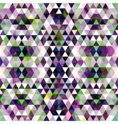 Triangular Mosaic Purple Background vector image vector image