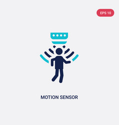 Two color motion sensor icon from artificial vector
