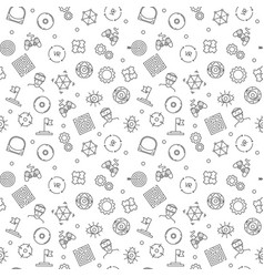 vr technology seamless pattern in outline vector image