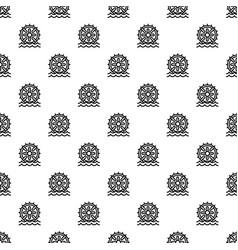 water wheel energy pattern seamless vector image