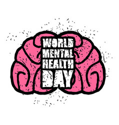 World mental health day emblem symbol of human vector