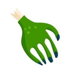 Zombie halloween cartoon death hand with blue claw vector