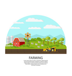 agriculture and farming concept vector image vector image