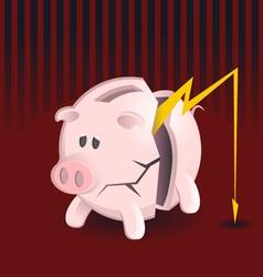 Bankruptcy Piggy Banks vector image vector image