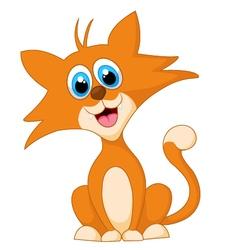 Cartoon adorable cat animal posing vector image