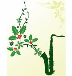 christmas sax vector image vector image