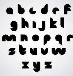 Digital style geometric simple font vector