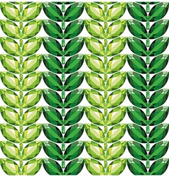 Emeralds leaves seamless texture vector image vector image