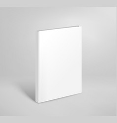 3d blank thin book mockup paper book template vector image vector image