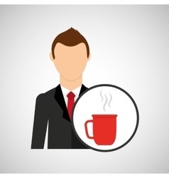cartoon dad father day cup coffee vector image vector image