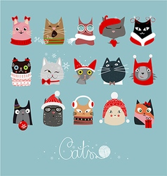 Cats 3123 vector image vector image