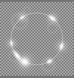 circle of light white color vector image vector image