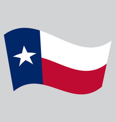 flag of texas waving on gray background vector image vector image