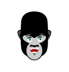 Gorilla happy emoji monkey merry emotion isolated vector