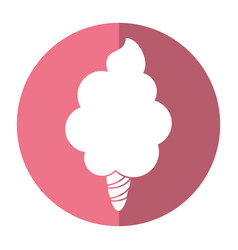 sweet cotton candy shadow vector image