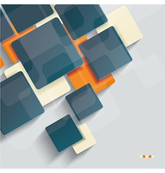 Background with cubes and squares elements vector image