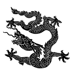 black dragon isolated vector image vector image