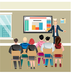 business seminar in office with people vector image