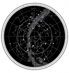celestial map vector image
