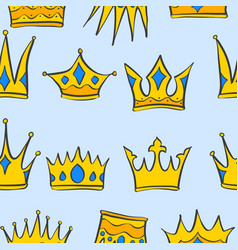 collection stock crown pattern style vector image vector image