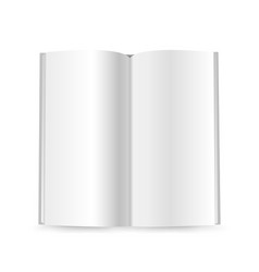 thin booklet mockup isolated on white ready for a vector image vector image