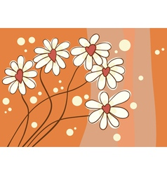 background with love chamomile vector image