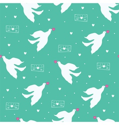dove and letter vector image