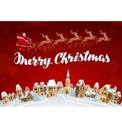 Merry christmas xmas greeting card vector