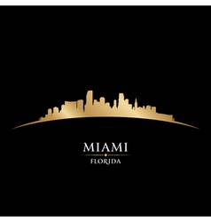 Miami Florida city skyline silhouette vector image vector image