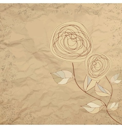 Romantic floral with vintage roses EPS 8 vector image