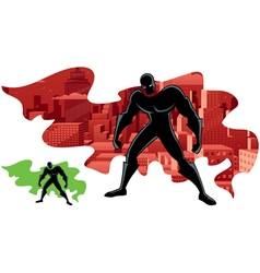 Superhero Abstract 2 vector image vector image