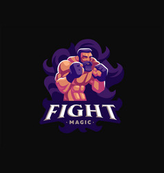 a male fighter of mixed martial arts vector image