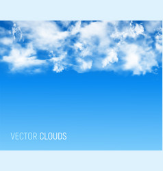 abstract background with clouds vector image
