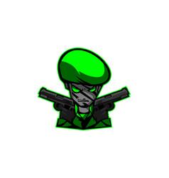 Army mascot image vector