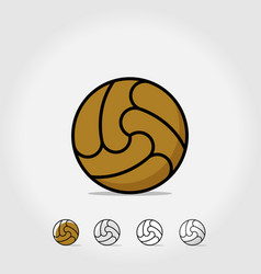ball icon soccer ball isolated on white vector image