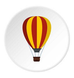 balloon icon circle vector image