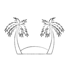beach landscape isolated icon vector image