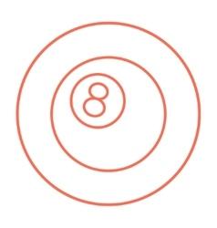 Billiard ball line icon vector image