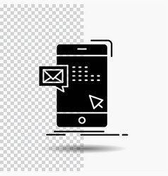 bulk dialog instant mail message glyph icon on vector image