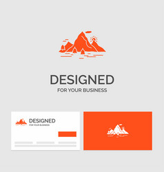 Business logo template for nature hill landscape vector