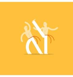 Capoeira sport game vector