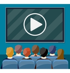 Cinema business video presentation vector image
