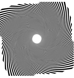 Circular radial linese geometric pattern vector
