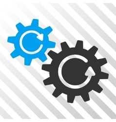 Cogs Rotation Icon vector image