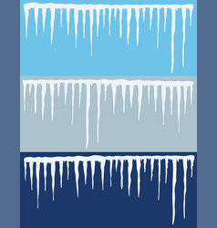 collection of icicles backgrounds vector image