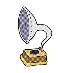 comic cartoon phonograph vector image