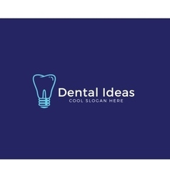 Dental Ideas Abstract Logo Template Tooth vector image