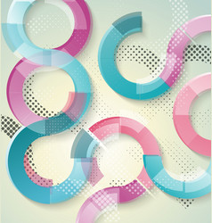 Design -bright transparent circles background vector