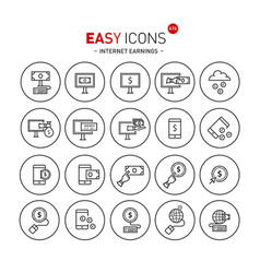 easy icons 41b internet earnings vector image