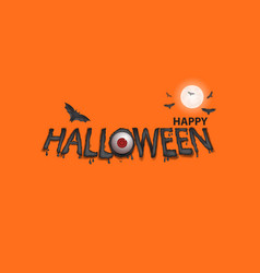 eyes amp halloween banner vector image
